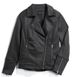 LIVERPOOL Bradford Coated Moto Denim Jacket
